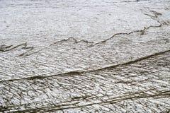 冰河的裂隙 库存照片