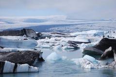 冰河盐水湖 库存图片