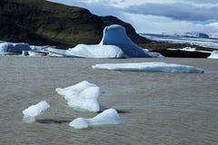 冰河jokulsarlon盐水湖 库存图片