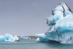 冰河jokulsarlon盐水湖 图库摄影