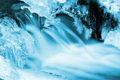 冰流冬天 库存照片