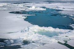 冰流程 免版税图库摄影