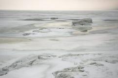 冰海运白色冬天 免版税库存照片