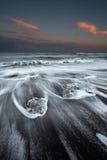 冰海滩冰岛 库存图片