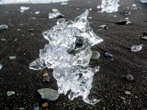 冰海滩 免版税库存照片