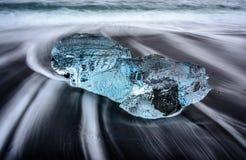 冰海滩 库存照片
