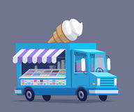 冰淇凌五颜六色的卡车 免版税库存图片