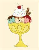 冰淇凌伙计 库存照片
