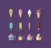 冰淇凌传染媒介 库存照片