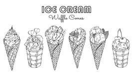 冰淇凌剪影 库存照片
