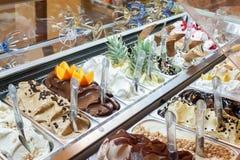 冰淇凌在界面 免版税库存图片