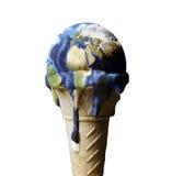 冰淇凌地球 免版税库存图片