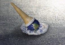 冰淇凌地球 库存照片