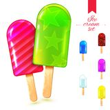 冰淇凌夏天集合 免版税图库摄影