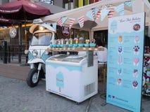 冰淇凌店在清迈,泰国 免版税图库摄影
