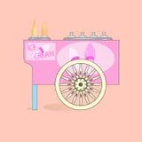 冰淇凌推车。 库存图片