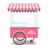 冰淇凌推车 向量例证