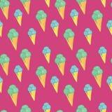 冰淇凌无缝的样式背景 库存照片