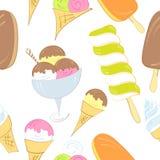 冰淇凌无缝的样式 库存图片