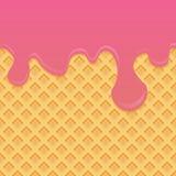 冰淇凌样式奶油和wafle构造传染媒介例证 向量例证