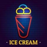 冰淇凌牌商标,平的样式 向量例证