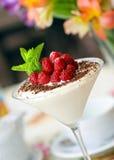 冰淇凌瓢香草和果子 库存照片