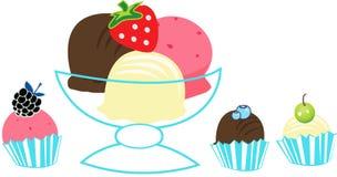 冰淇凌瓢 免版税库存图片