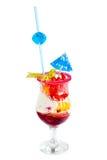 冰淇凌用堵塞 免版税库存照片