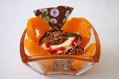冰淇凌用桔子 免版税图库摄影