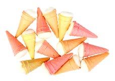 以冰淇凌的形式,数结块 库存照片