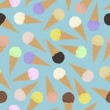 冰淇凌的无缝的样式 免版税图库摄影