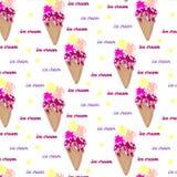 冰淇凌的样式 免版税库存图片
