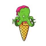冰淇凌章鱼 库存例证