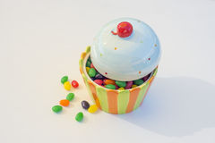 冰淇凌糖果碗 免版税图库摄影