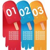 冰淇凌颜色信息图表 库存照片