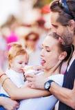 冰淇凌婴孩家庭 库存图片