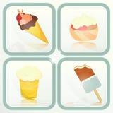 冰淇凌-设置标签 免版税库存照片