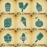 冰淇凌-设置标签 库存图片