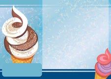 冰淇凌A4模板 免版税库存照片