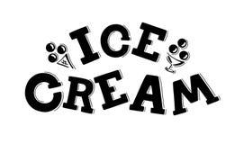 冰淇淋商标儿童的咖啡馆字法 库存例证
