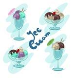 冰淇淋夏天甜点 库存例证