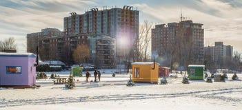 冰渔在Ste罗斯拉瓦尔 免版税库存照片