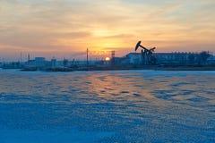 冰湖日出 库存照片