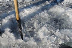 冰漏洞 免版税库存图片