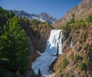 冰瀑布 库存图片