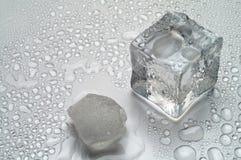 冰熔化 免版税库存照片