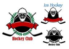 冰球与体育项目的俱乐部象征 库存照片