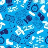 冰球体育象蓝色无缝的样式eps10 库存图片