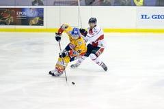 冰球意大利首要的League 免版税图库摄影