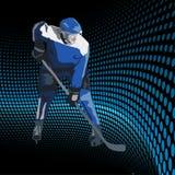 冰球球员。 向量例证 图库摄影